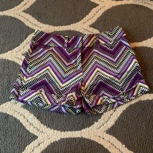 New York & Co. Purple and Green Dressy Short Sz 8